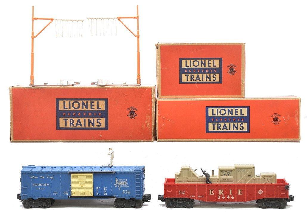Lionel 3424 Brakeman Car 3444 Erie Gondola OBs