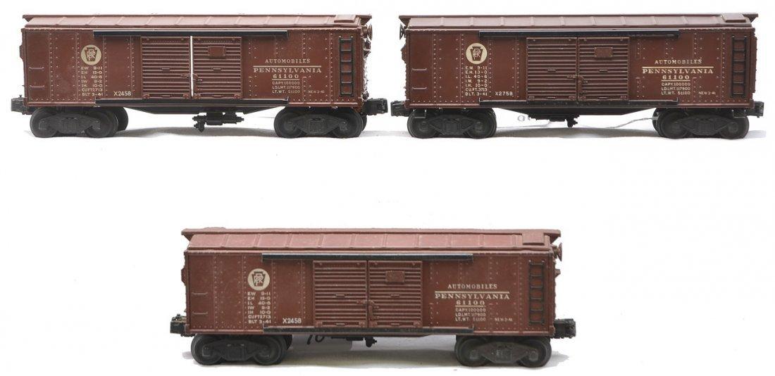Lionel Postwar 2-X2458 PRR X2758 PRR Boxcars
