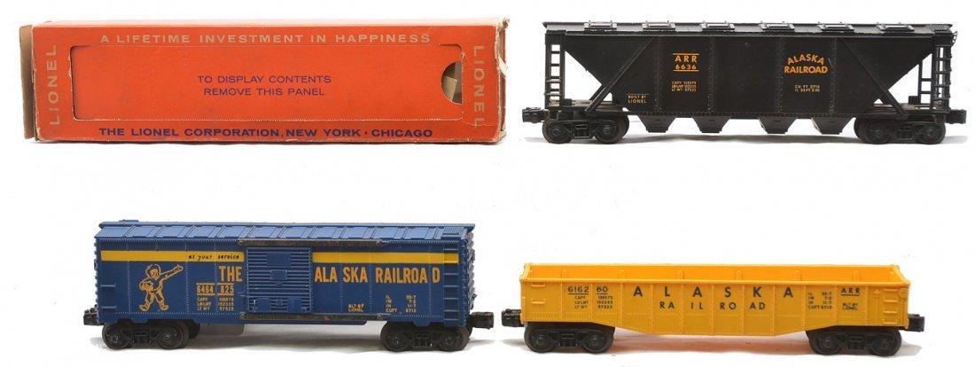 Lionel Alaska Freight Cars 6636 6162-60 6464-825