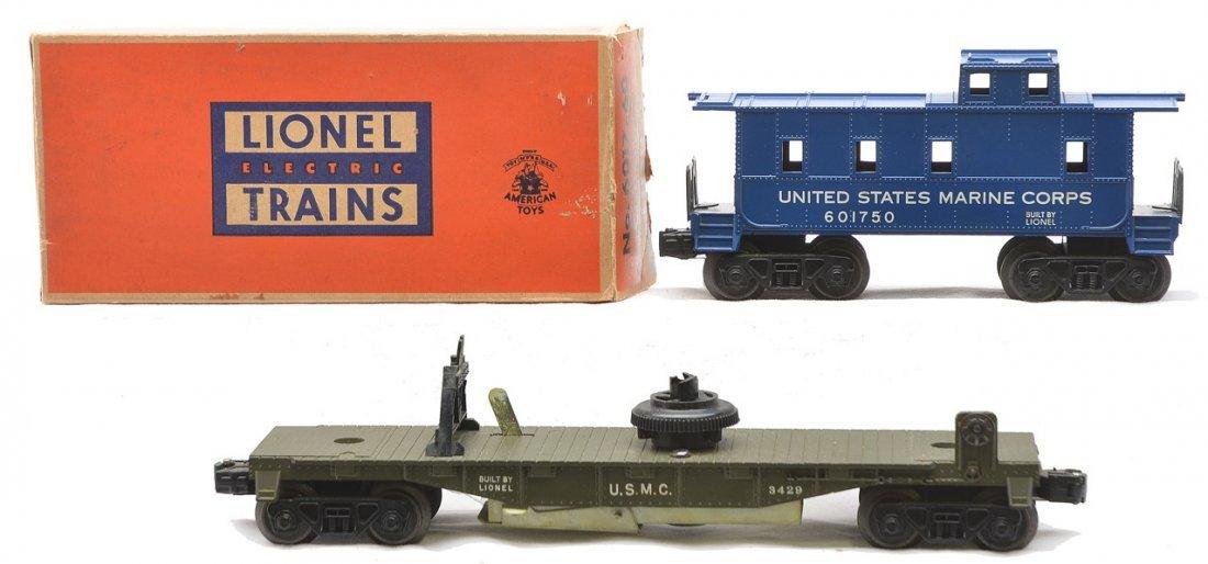 Lionel 3429 USMC Flatcar 6017-60 USMC Caboose