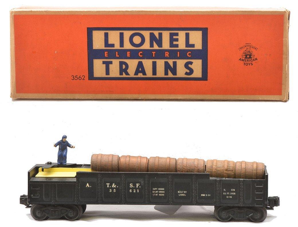 Lionel 3562 Black AT&SF Barrel Car Boxed