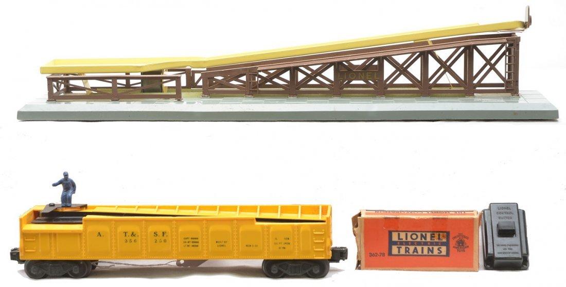 Lionel 362 Barrel Loader 3562-50 AT&SF Barrel Car