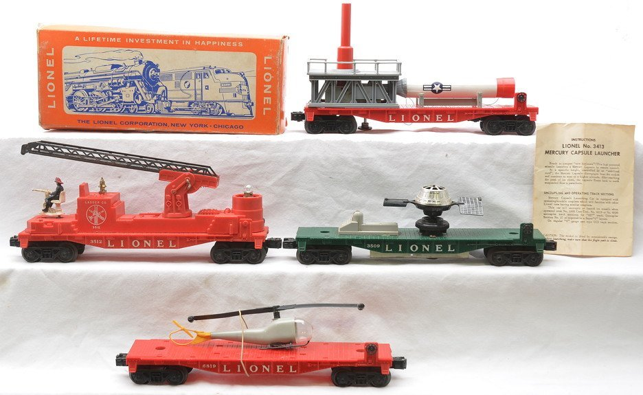 Lionel Freight Cars 3413  OB 3509 6819 3512