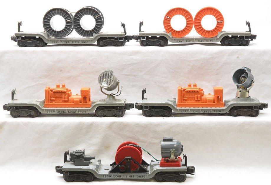 Lionel Freight Cars 3650 6520 3520 6561 6561