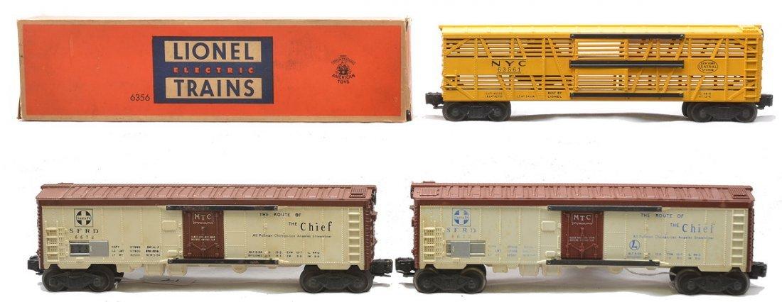 Lionel 2 6672 Santa Fe Reefers 6356 Stock Car OB