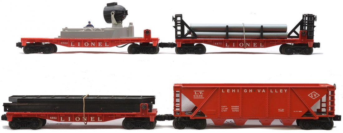 Lionel Freight Cars 6802 6477 6436-110 6822