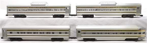 Lionel Aluminum Pass Cars 2523 2522 2522 2521