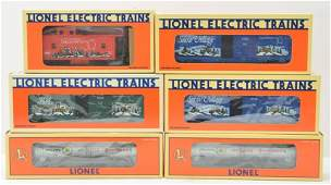 Lionel Department 56 Christmas Freight Cars MIB