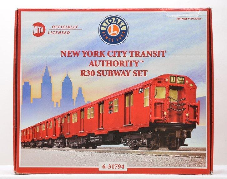 Lionel 31794 NYC Transit Authority R30 Subway Set