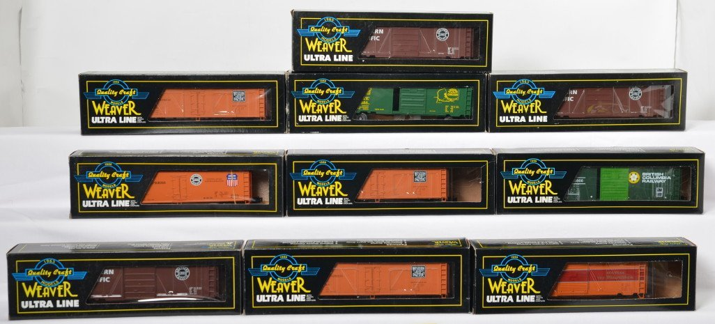 10 Weaver freight cars EJ&E, WP, SP, etc