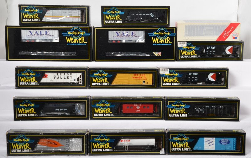 15 Weaver freight cars New Haven, NKP, CP Rail, etc