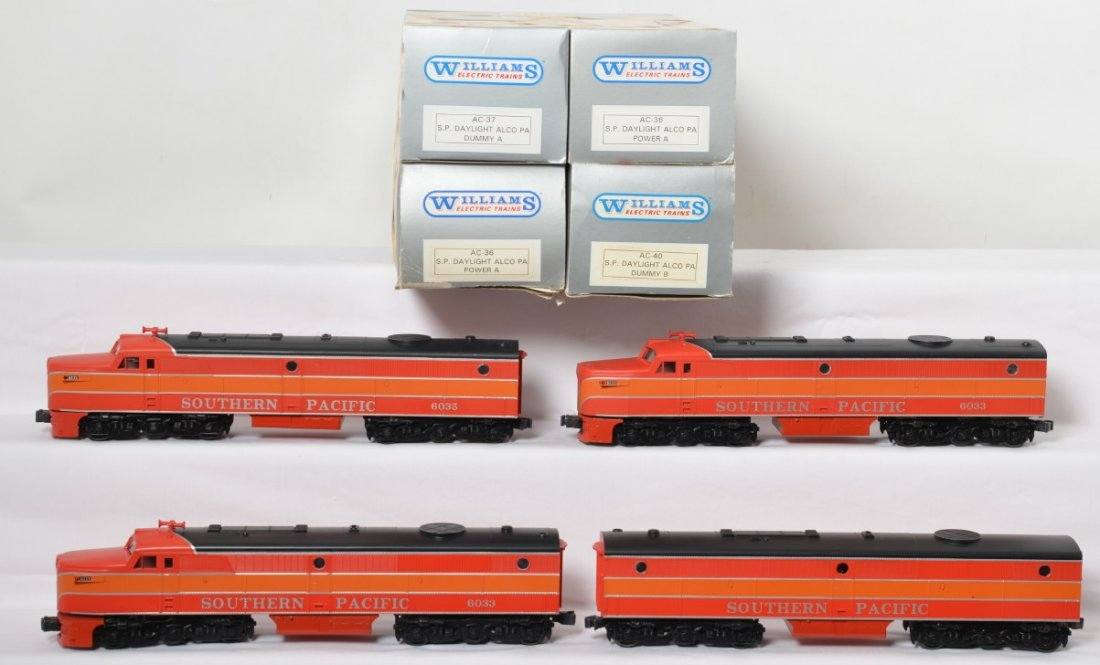 4 Williams Southern Pacific Alco PA locomotives