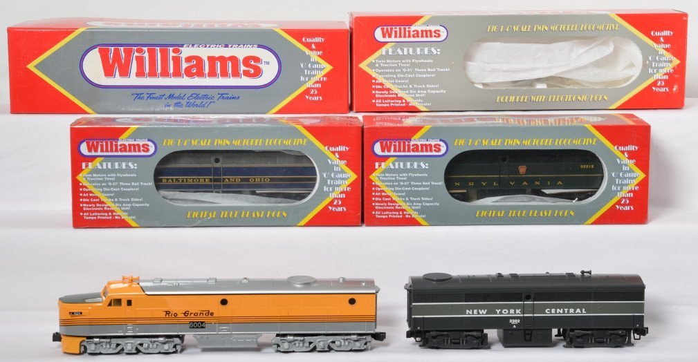 Williams Alco PA loco and FB units RG, NYC, PRR, B&O