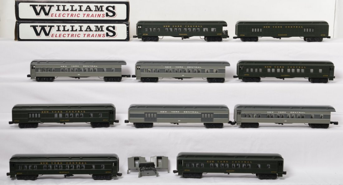 12 Williams New York Central passenger cars