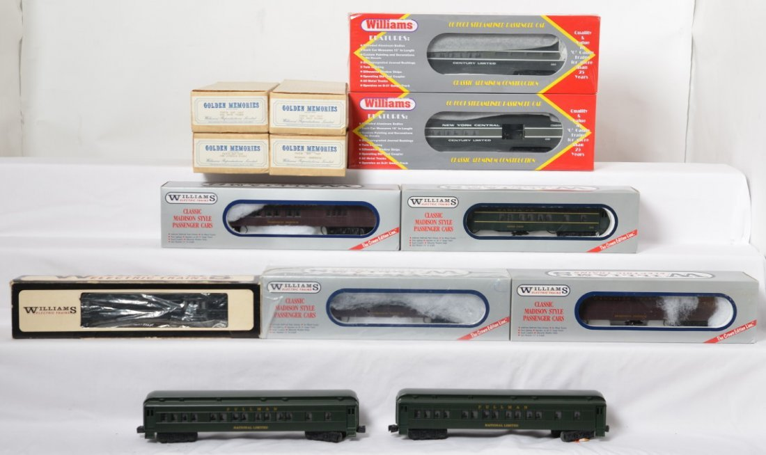 13  Williams passenger cars NYC, Pullman, FEC, CP, etc