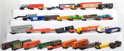 33 freight cars from Lionel MTH and K Line