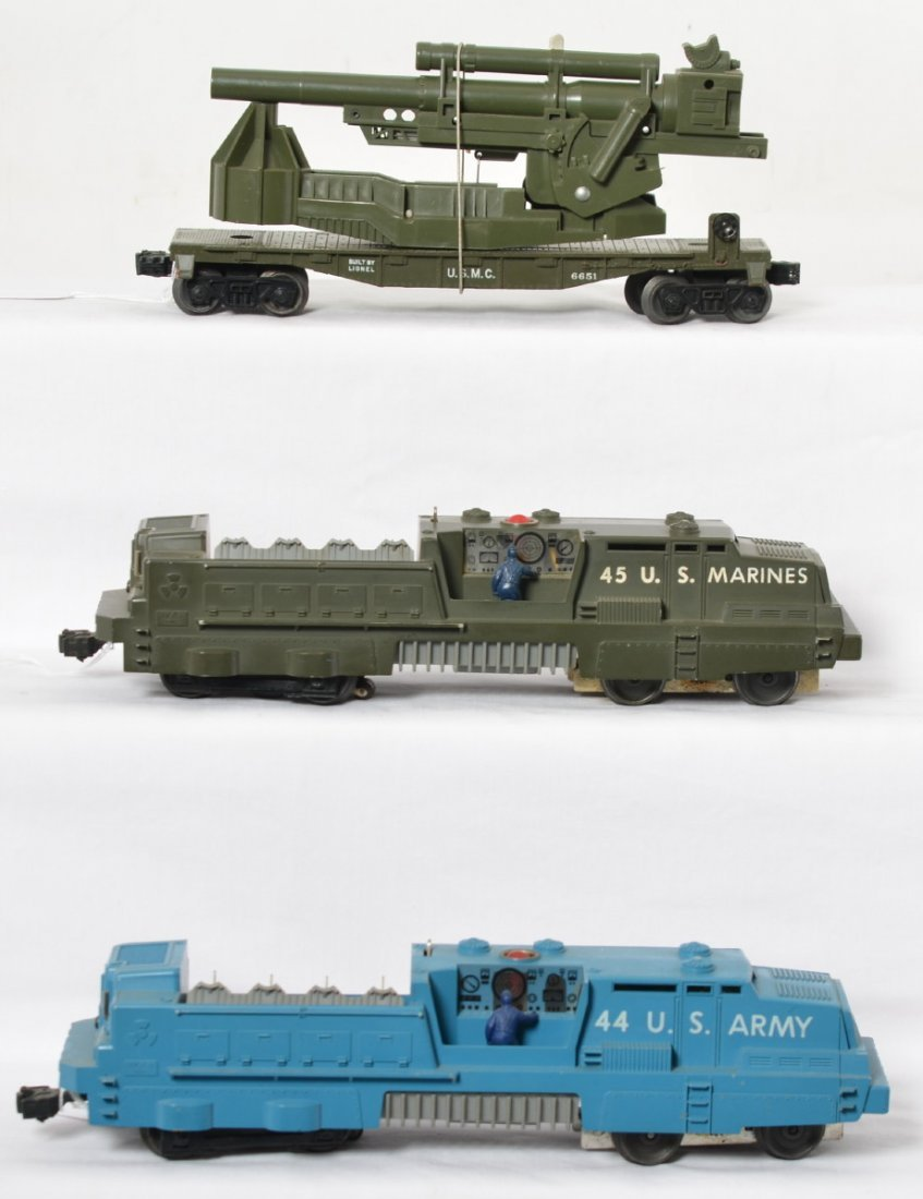 Lionel 44, 45, and 6651 military trains