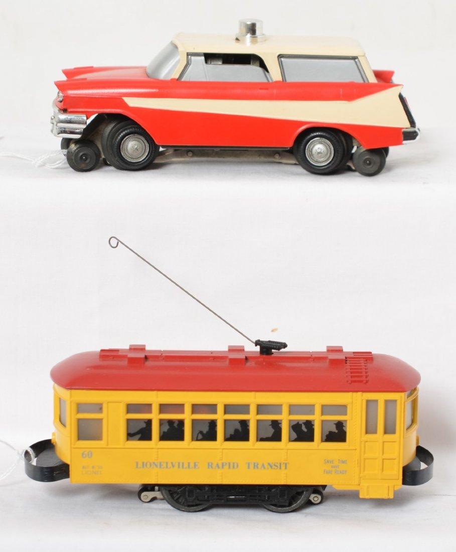 Lionel No. 60 trolley & No. 68 Executive inspection car