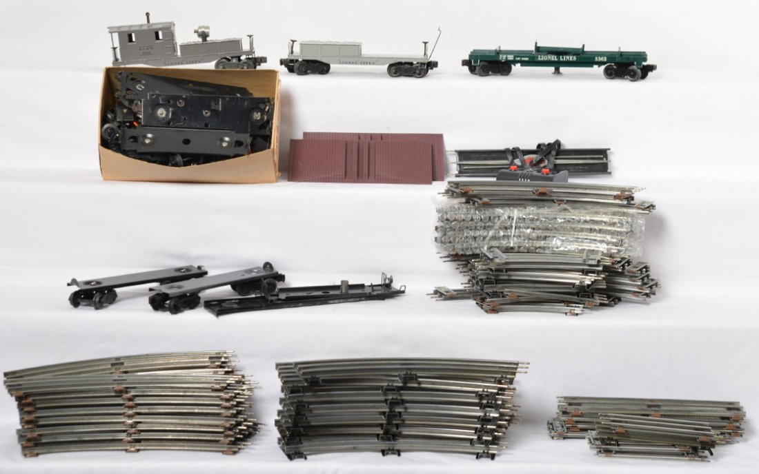 Lionel 027 and O gauge track, and train parts