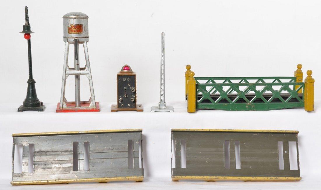 Lionel prewar O gauge bridge w/approaches, 93, 59, 91