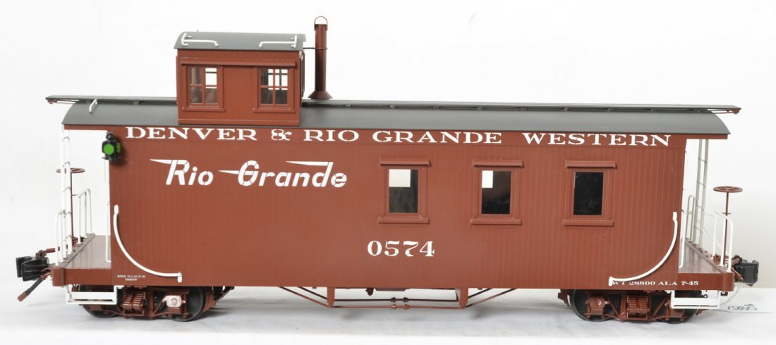 Accucraft Trains AC83-143 D&RGW caboose in OB, BRASS - 2