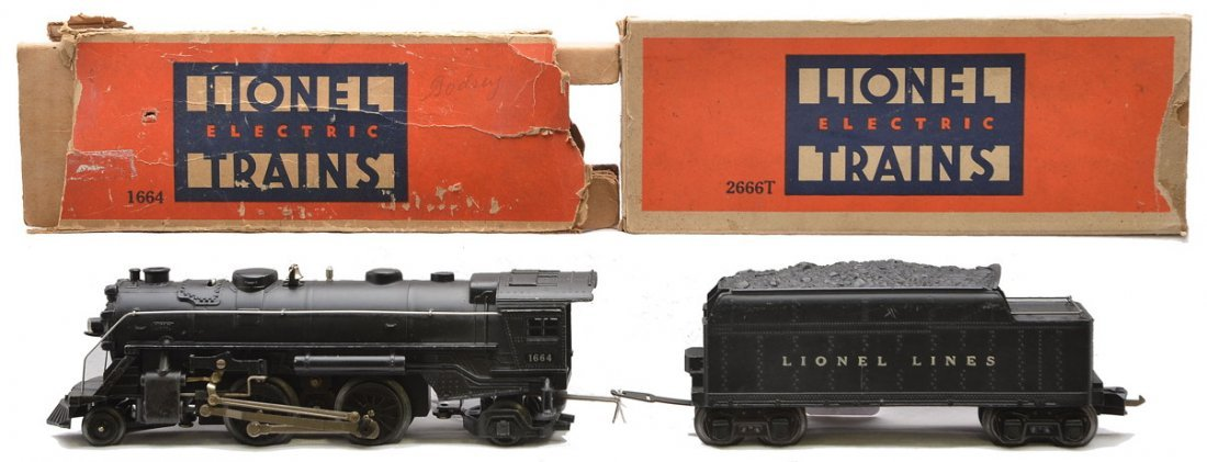Lionel 1664 Steam Loco 2666T Tender LN OBs
