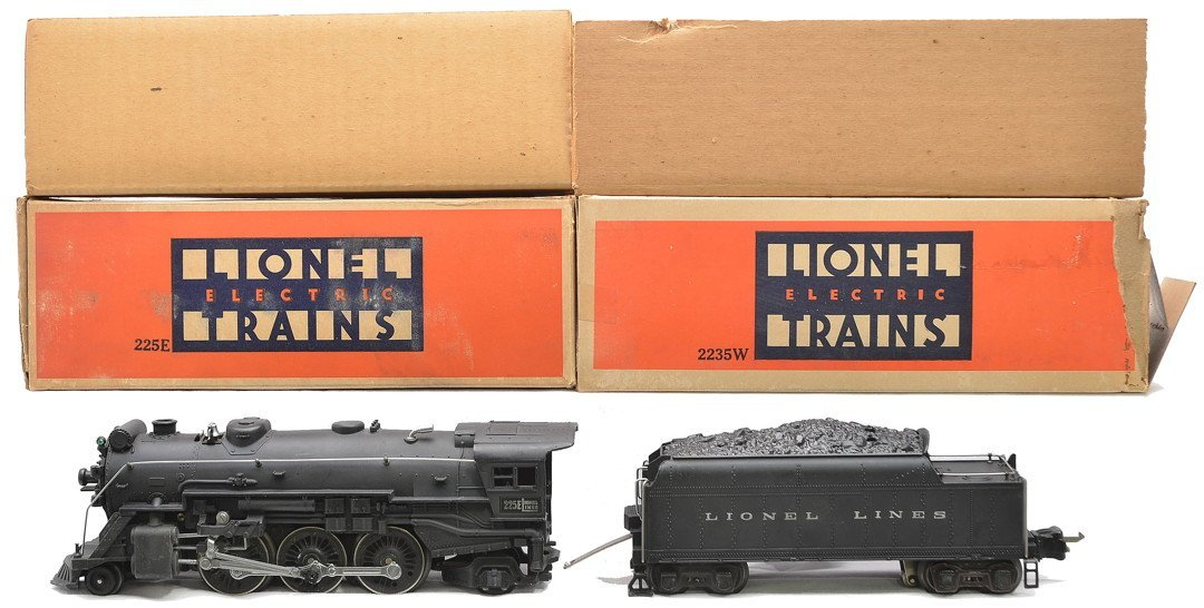 Lionel 225E Black Steam Loco 2235W Tender LN