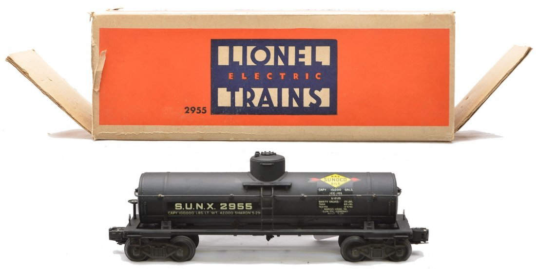 Lionel 2955 Black Sunoco Tank Car Boxed