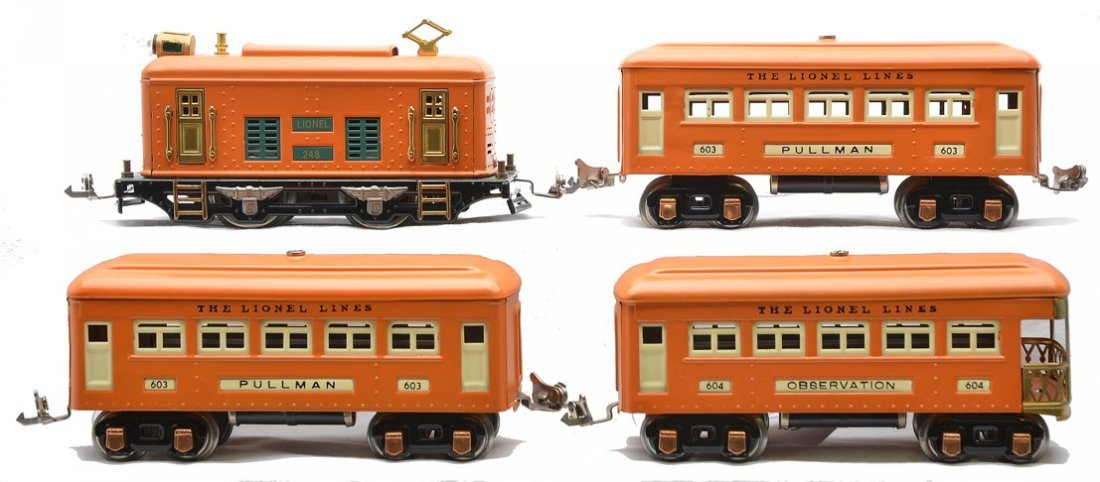 Lionel Orange Passenger Set 248 2-603 604