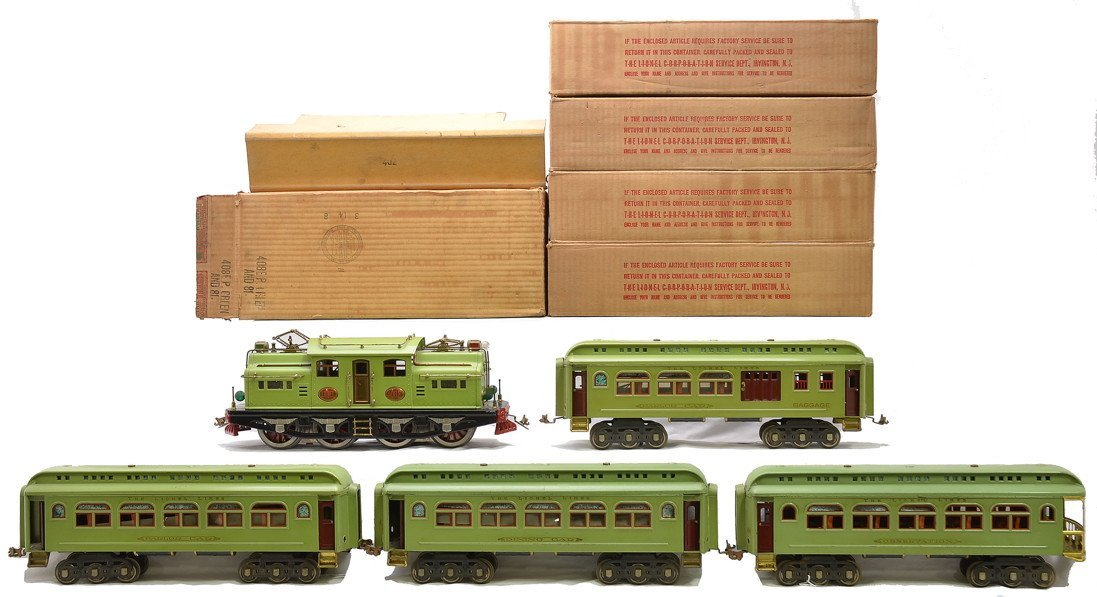 Lionel Apple Green Pass Set no. 409E Boxed