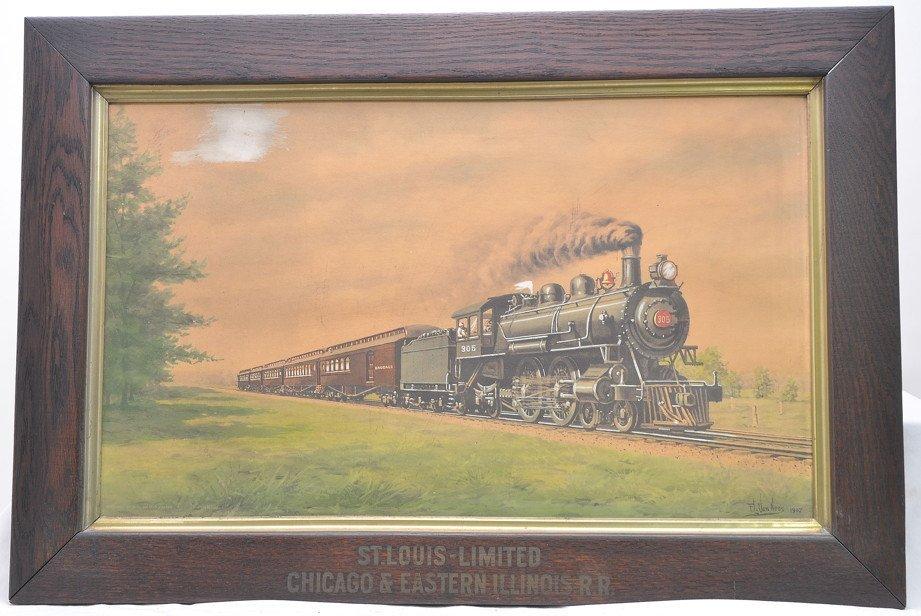 Vintage F.L. Van Ness Painting St. Louis RR