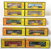 10 Railking freight cars Erie NYC PRR auto