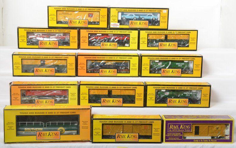 14 Railking freight cars Sinclair, SF, FEC, etc
