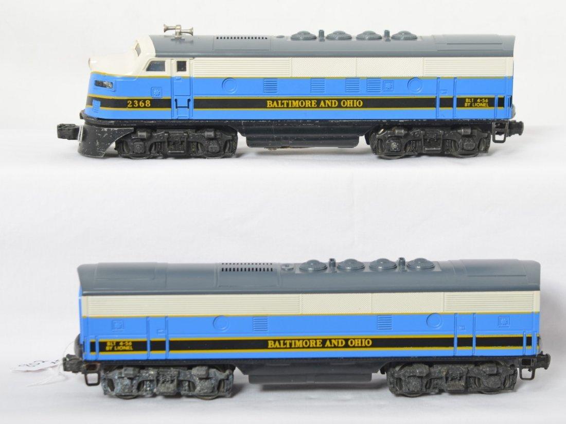 Lionel 2368 Baltimore and Ohio F3 A-B diesel