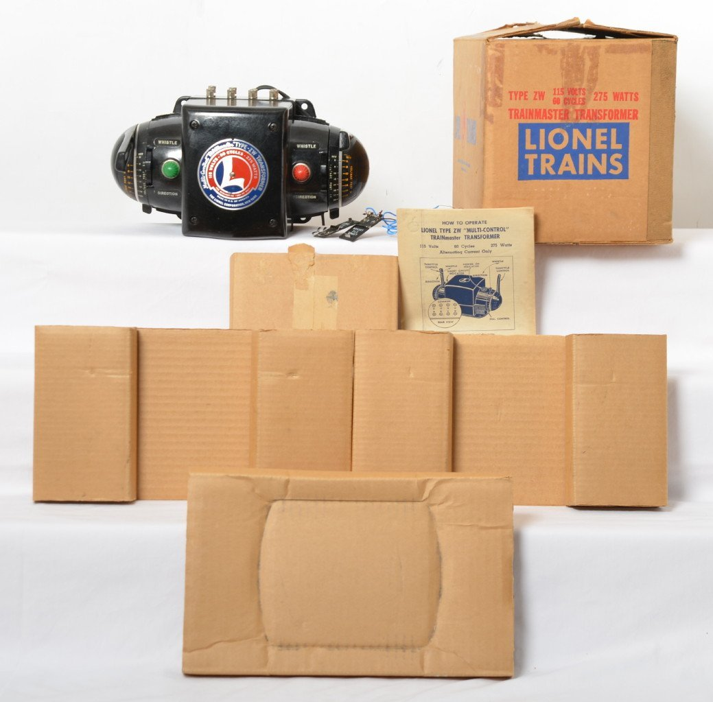 Lionel type ZW 275 watts transformer in OB w/inserts