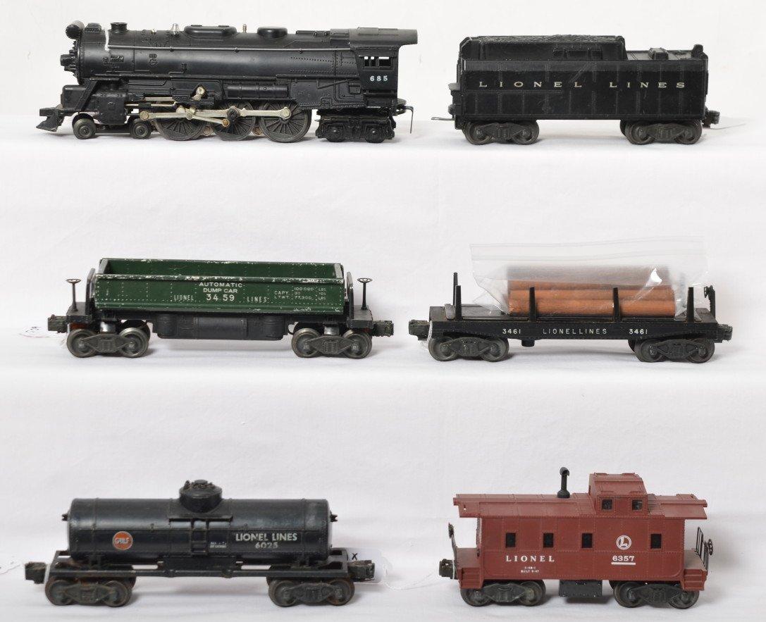 Lionel 685, tender, 3459, 3461, 6025, 6357 steam