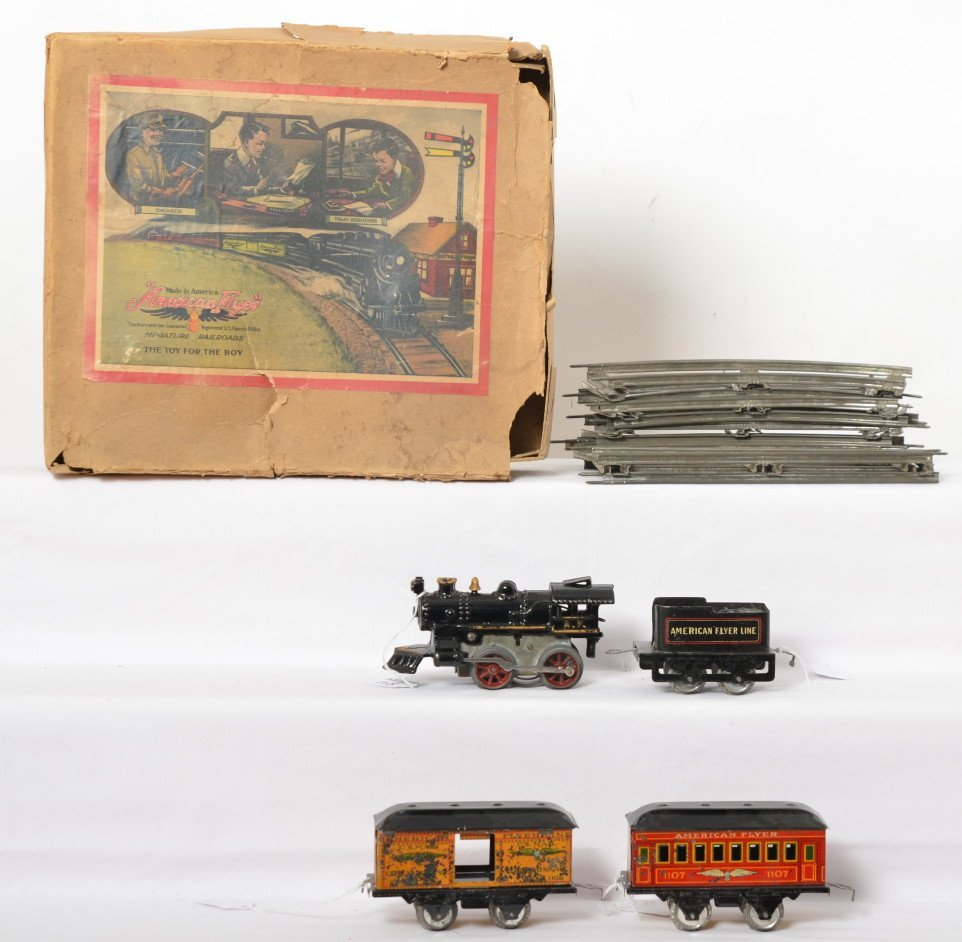 American Flyer O gauge boxed mechanical steam passenger