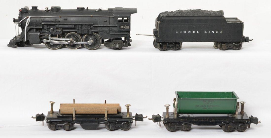 Lionel 225, 2235W, 2659, 3651 steam freight