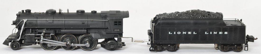 Lionel 224E steam loco with 2224W whistle tender