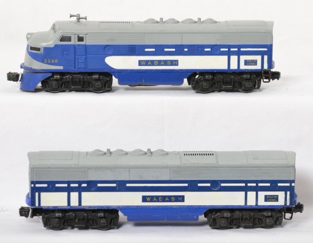 Lionel 2240 Wabash EMD diesel F3 A-B units