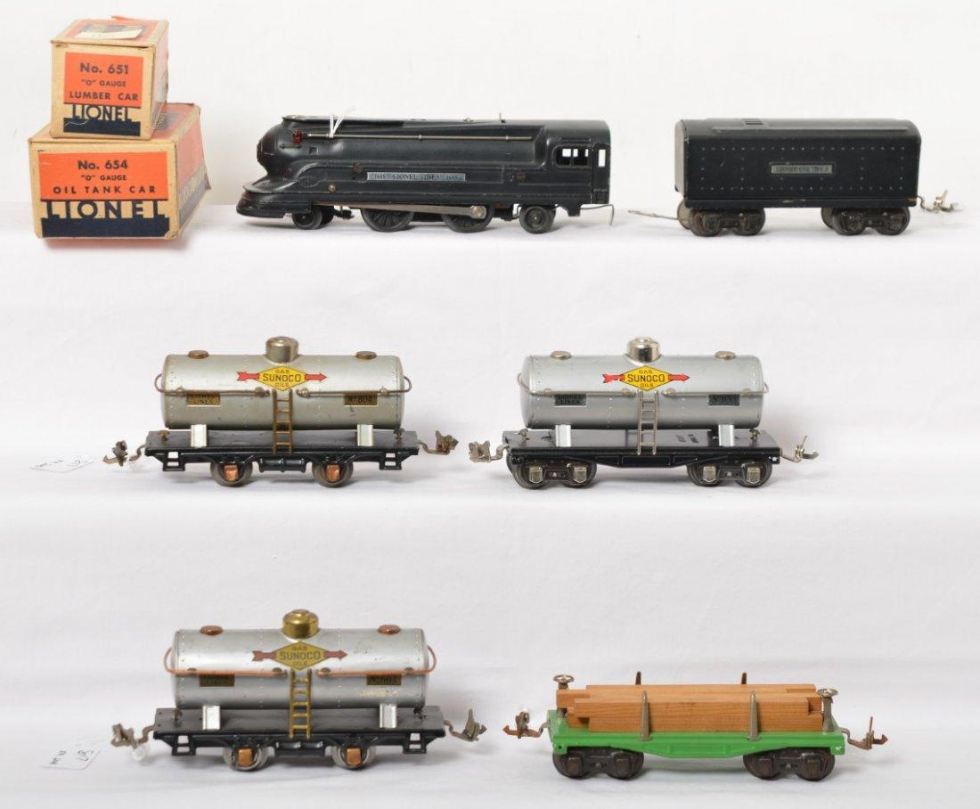 Lionel 1688 streamline, 1689T, 651, two 804, 654