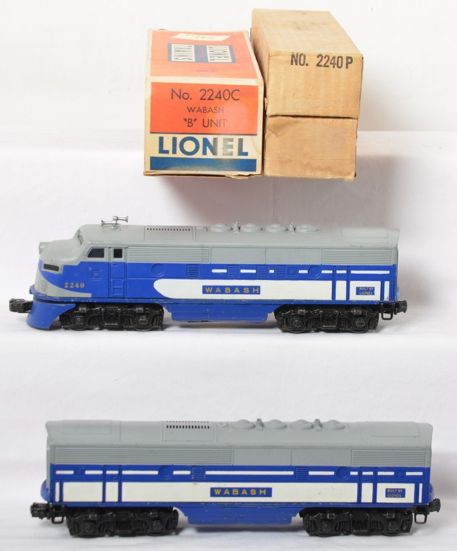 Lionel 2240P and 2240C Wabash F3 A-B units in OB