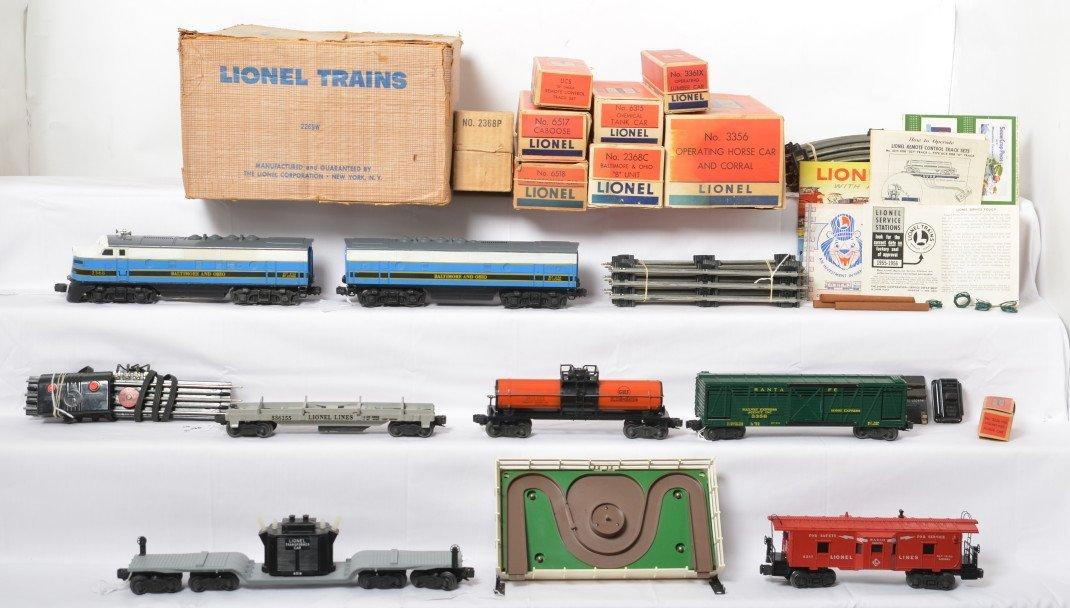 Boxed Lionel 2269W B&O 2368 diesel freight set