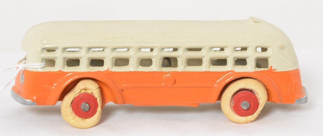 Cast iron city bus, 5 inches Near Mint