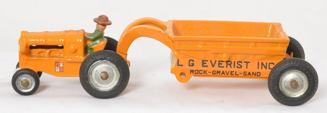 Arcade early scraper L.G. Everist Inc. cast iron Mint