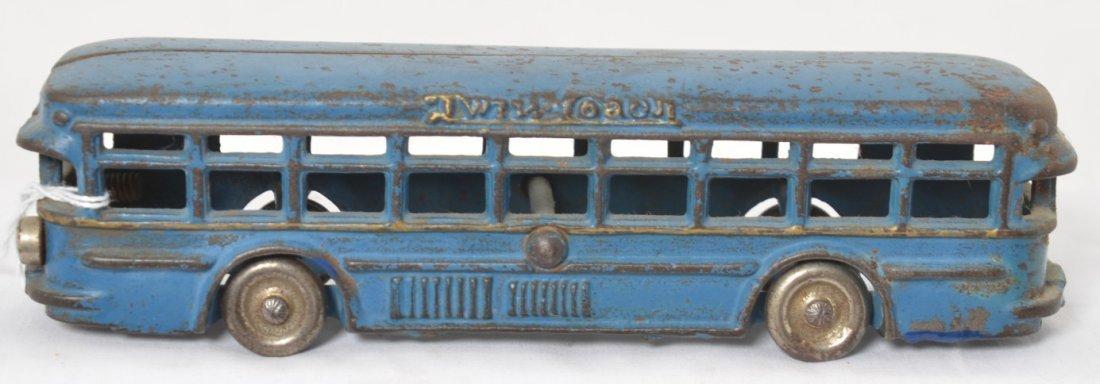 Cast iron Twin Coach passenger/touring bus 8-3/8î