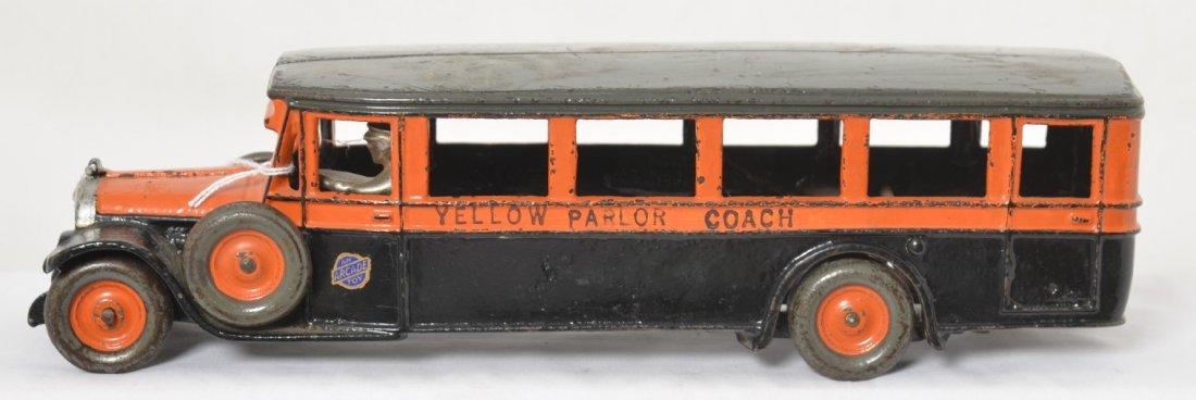 Arcade Yellow Parlor Coach touring bus 13-1/8î
