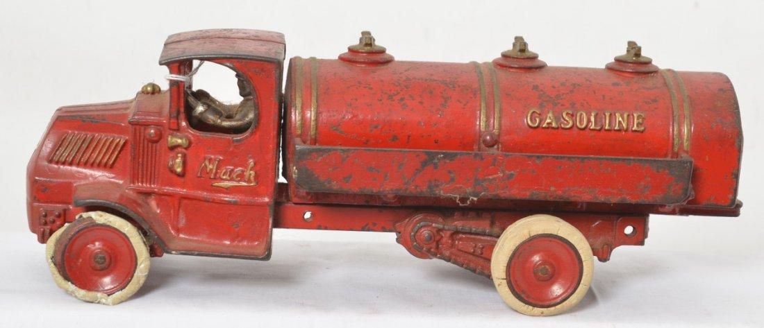 Cast iron Arcade Mack Gasoline truck 13 inches long