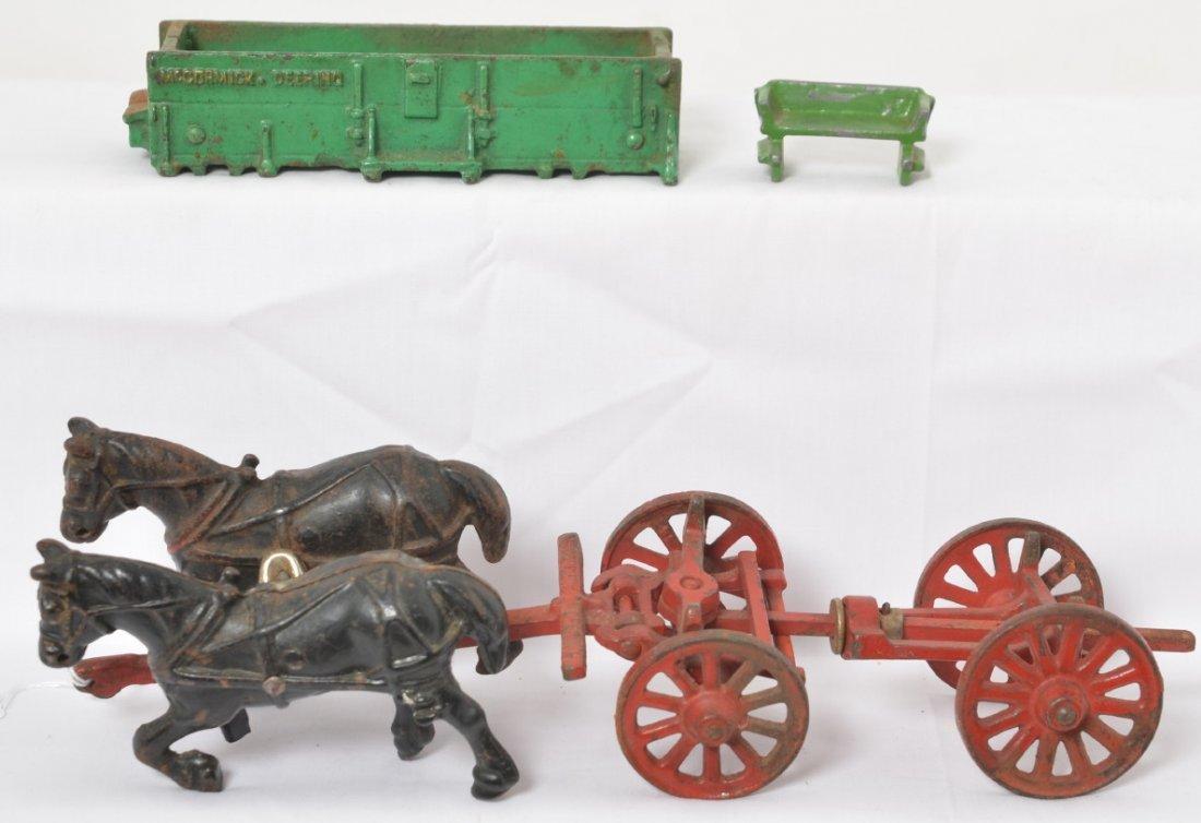 Arcade McCormick-Deering grain wagon w/buckboard