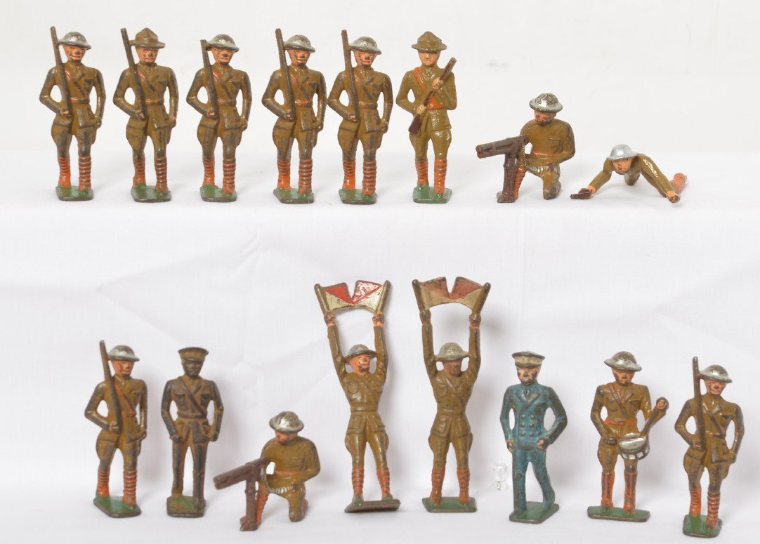 Sixteen military soldiers cast iron, Grey Iron